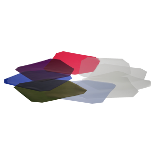 """Color and Diffusion Filter Set for 9"""" reflectors"""